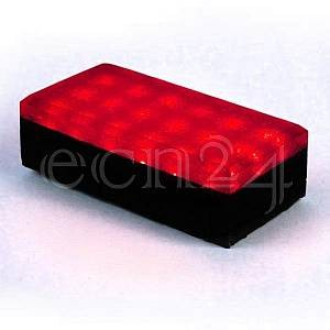 K&K Products 12V LED Pflasterstein 20 x 10 cm rot