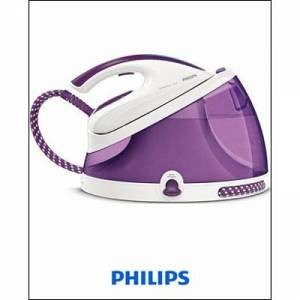 Philips Dampfbügelstation GC8625/30 PerfectCare Aqua, SteamGlide Plus Einlegesohle, 2400 Watt, Lila