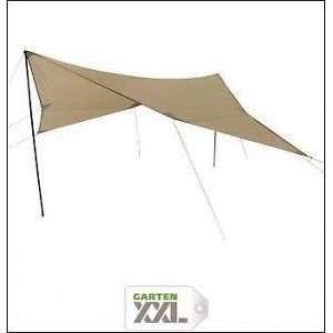 10-T Outdoor Equipment, 10T Tarp III 5x5 m Sonnensegel UV 50+ Sonnenschutz Camping Sonnendach Outdoor Markise mit Aufstellstangen Abspannleinen Heringe, wasserdicht mit 2000mm Wassersäule