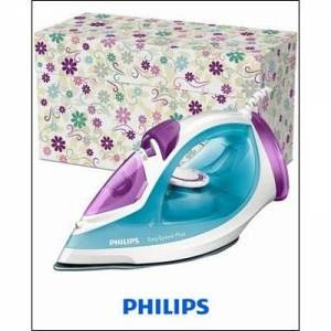 Philips Dampfbügeleisen GC2045/26 EasySpeed Plus, Keramiksohle, 2300 Watt, hellblau, PHILIPS Lila