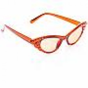 50er Jahre Brille, orange
