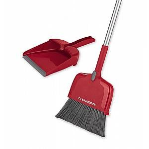 Clean Maxx Multifunktionsbesen 4 in 1, rot