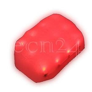 K&K Products Leuchtender 12V LED Dekostein 13cm rot